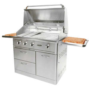 "Outdoor Kitchen BBQ with 40"" Cart Model Open Grill BBQ 