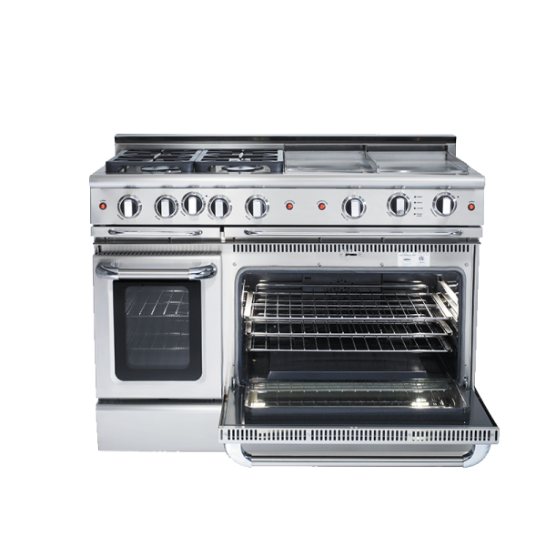 36 inch capital cooker with 4 burner and double tepayanki plate