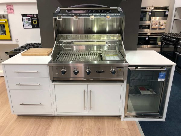 "Capital 40"" Built In BBQ with Husky Fridge 